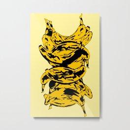 Band Of Bananas 2 Yellow Metal Print
