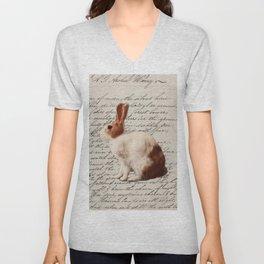 magical fairy woodland nursery easter bunny wild hare rabbit Unisex V-Neck