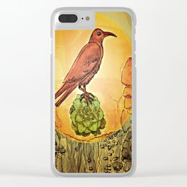 NATURE / BIRD and SUCCULENT Clear iPhone Case