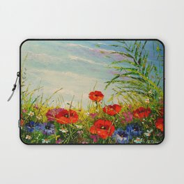 Field in poppies and cornflowers Laptop Sleeve