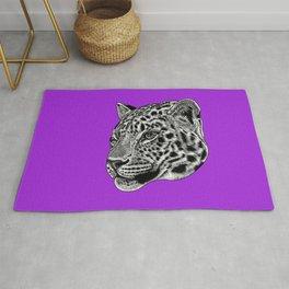 Amur leopard cub - purple - big cat Rug