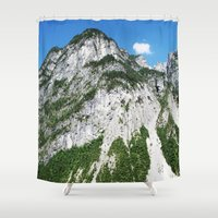 italian Shower Curtains featuring Italian alps by Carlo Toffolo