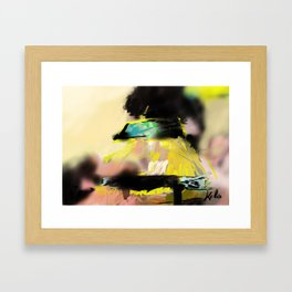 i was already thinking of the cab back home Framed Art Print