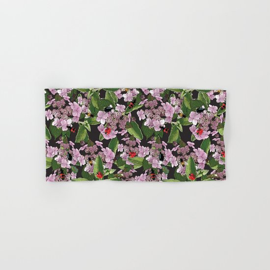 Floral insects pattern Hand & Bath Towel