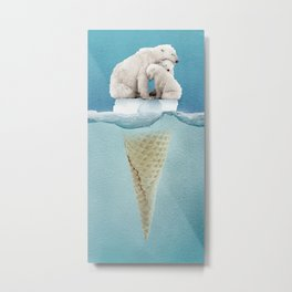 polar ice cream cap 02 Metal Print