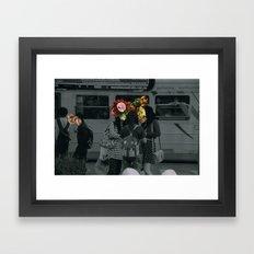 Street people collage series Framed Art Print