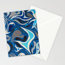Parasites in Blue Stationery Cards