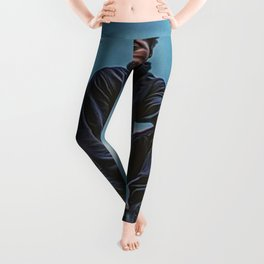 African American Portrait 'If You Don't Stand For Anything, You Will Fall For Anything' Leggings