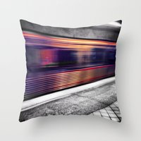 subway Throw Pillows featuring Subway by Yancey Wells