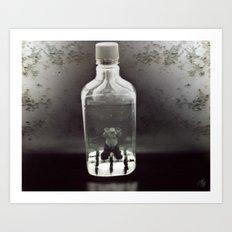 Stuck In a Hard Place | Bottle Art Print