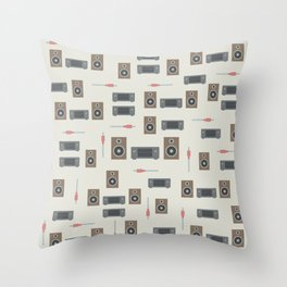 Stereo system Throw Pillow