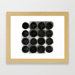 WATERCOLOUR DISCS: Black Spinel Framed Art Print