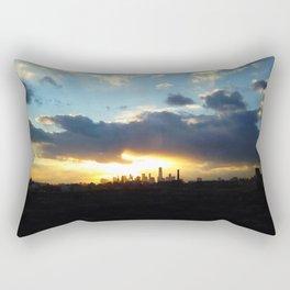 Golden City Rectangular Pillow