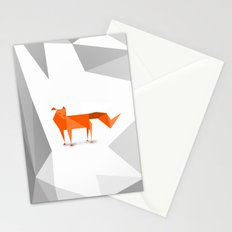 Fox cutout Stationery Cards