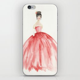 The Red Ball Gown iPhone Skin