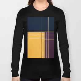 Abstract graphic I Dark blue Purple Yellow Long Sleeve T-shirt