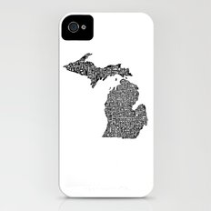 Typographic Michigan Slim Case iPhone (4, 4s)