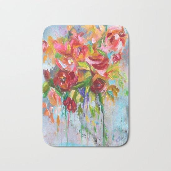 Pink Abstract - I Bath Mat