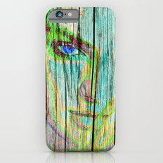 Woman on wood Slim Case iPhone 6s