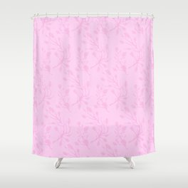 Hand painted pastel pink abstract floral Shower Curtain
