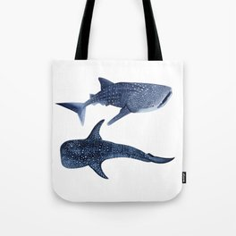 TWO WHALE SHARK Tote Bag