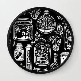 The Tiny Witch Gallery - Reverse Wall Clock