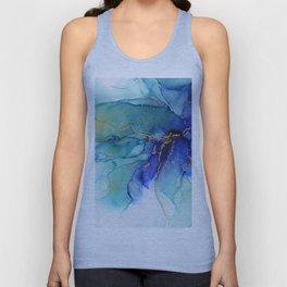 Electric Waves Violet Turquoise - Part 2 Unisex Tank Top