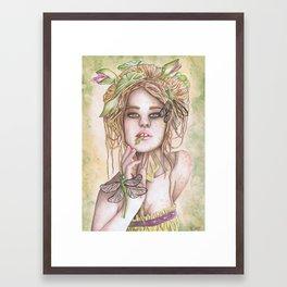 Frog Throat Framed Art Print
