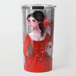 The red dress Travel Mug