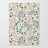 flora Canvas Prints featuring Flora by Anna Deegan