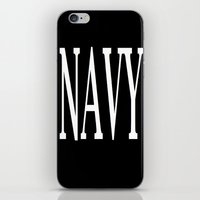 navy iPhone & iPod Skins featuring NAVY by shannon's art space