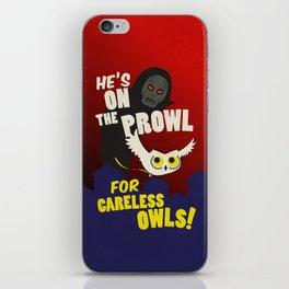 Careless Owls iPhone Skin