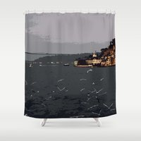 istanbul Shower Curtains featuring Istanbul bosphorus by gzm_guvenc