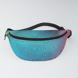 Colourful Circles Background Fanny Pack