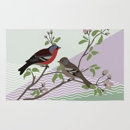 loving chaffinches Rug