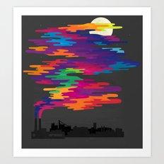 Hidden in the Smog (Night) Art Print