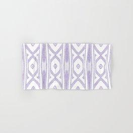 Velvety Tribal Shield in Lilac Hand & Bath Towel