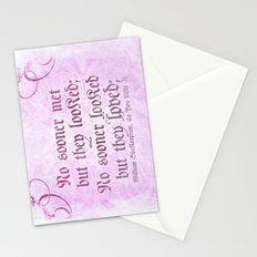 Love at first sight - Shakespeare Love Quote Stationery Cards