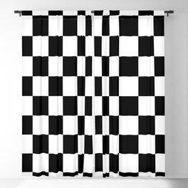 Black & White Checker Checkerboard Checkers Blackout Curtain