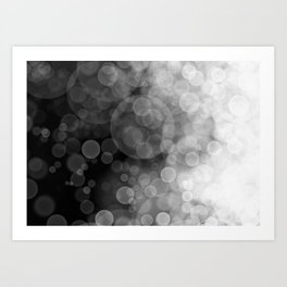 Black and White Spotted3 Art Print