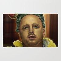 jesse pinkman Area & Throw Rugs featuring Jesse by Jason Cumbers