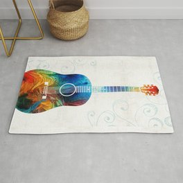 Colorful Guitar Art by Sharon Cummings Rug