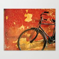 cycle Canvas Prints featuring cycle by Vani