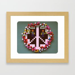 Peace & Love  Framed Art Print