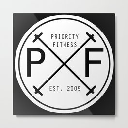 Priority Fitness New Era [Circle Version] Metal Print