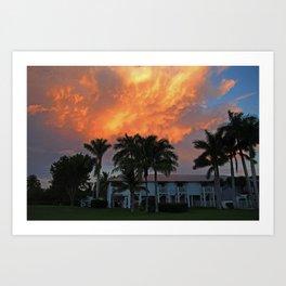 Sunset Over Tarpon Art Print