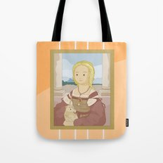 Lady with Unicorn by Raphael Tote Bag