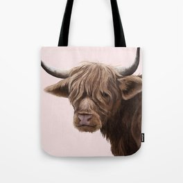 highland cattle portrait Tote Bag