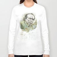 bukowski Long Sleeve T-shirts featuring Charles Bukowski by Nina Palumbo Illustration