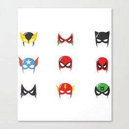 Superhero Masks Canvas Print